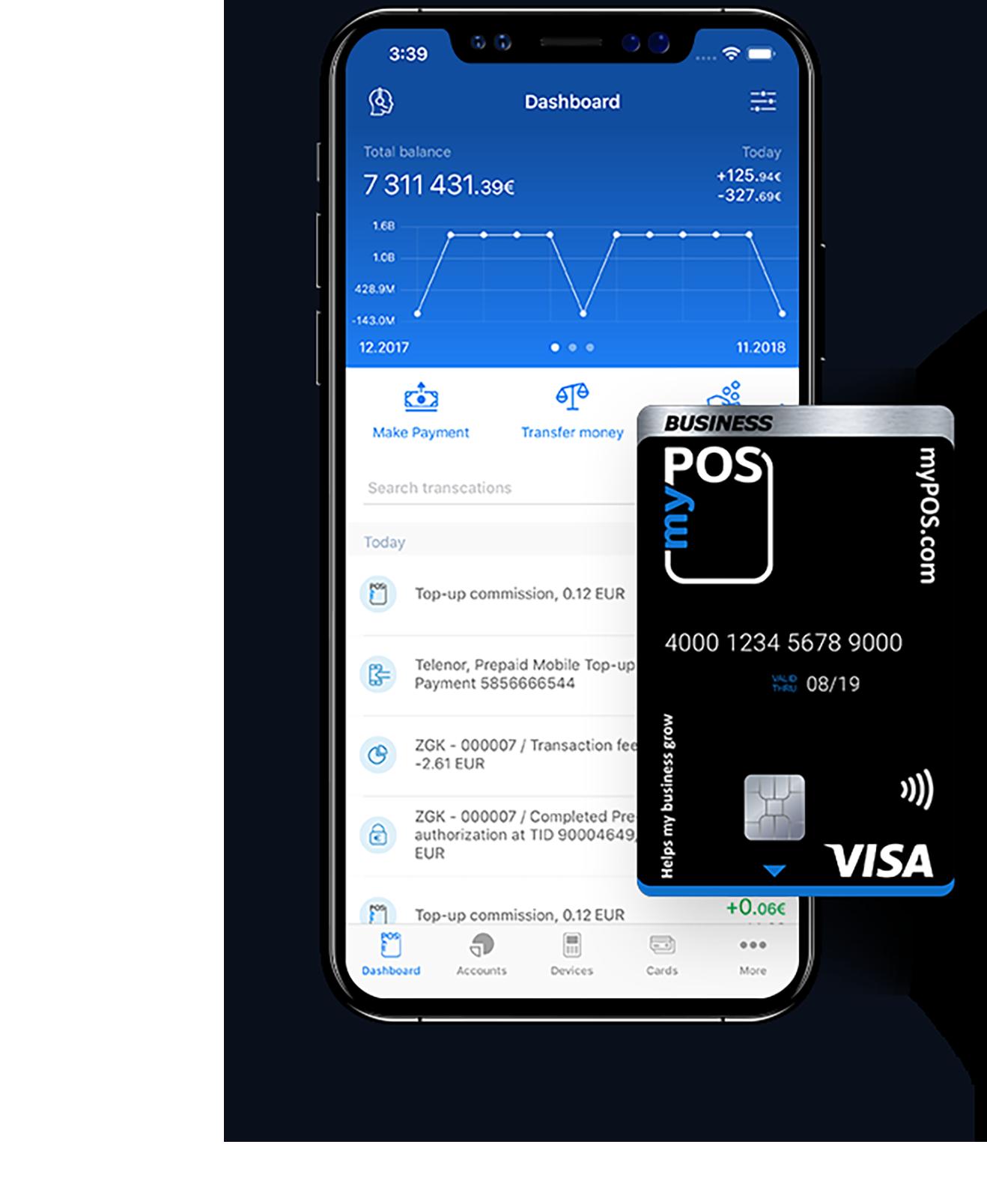 il mio POS phone-card-mypos-app